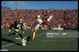 BC Ivan Boyd in action vs Notre Dame.; Good shot about to make catch....  News Photo - Getty Images