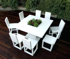 white outdoor dining table astounding furniture for home decoration with colored wicker furniture handsome modern outdoor