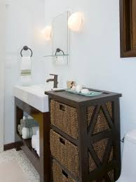 size bathroom wicker storage:  large size of storage contemporary bathroom wooden storage ideal for any bathroom setting dark brown finish