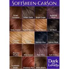African American Hair Dye Color Chart Dark And Lovely Color Chart In 2019 Brown Hair Colors