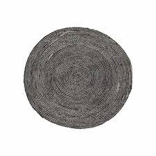 house doctor round rug hemp black bleached Ø100cm house doctor