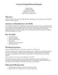 entry level analyst resumes