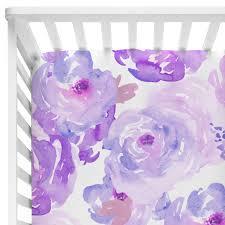 purple petal party baby bedding caden lane crib sheet boy sets under nursery bedroom white cot