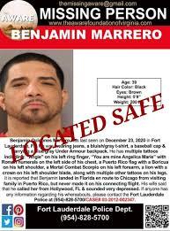 UPDATE: BENJAMIN MARRERO has... - The AWARE Foundation, Inc ...