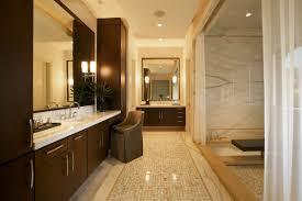 ... Luxury Design Long Small Master Bath Ideas Decor With Dark Brown  Minimalist Vanity Laminated ...