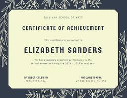 Achievement Certificate Customize 101 Achievement Certificate Templates Online Canva