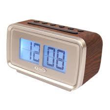 jensen am and fm dual alarm clock with digital retro flip display