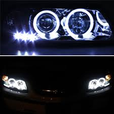 for ccfl halo 00 05 chevy impala led projector headlights blk head lights lamp