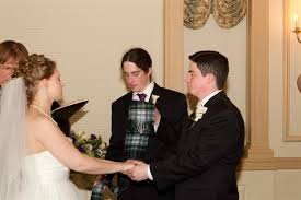 this past week i officiated a ceremony at the hawthorne hotel in m m that included a handfasting ceremony brad and christina chose to incorporate