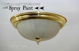 brass lighting fixtures. Spray Painting Ceiling Lights Brass Lighting Fixtures E