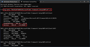 how to check net framework version on
