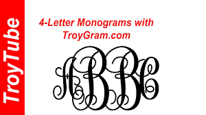 now you can do 4 letter monograms with troygram