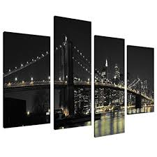 large new york city canvas wall art pictures of nyc skyline in black white set 4 on new york city skyline canvas wall art with amazon large new york city canvas wall art pictures of nyc