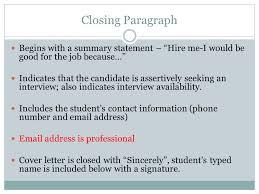 A Cover Letter Begins With Career Development Folder Application Cover Letter Ppt Download