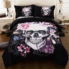 skull duvet cover set fantasy quilt cover set 3d skull bedding set twin queen
