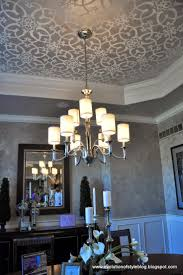 Stenciled Tray Ceiling More