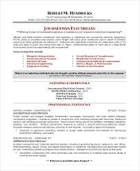 Electrician Resume Template 5 Free Word Excel Pdf Documents Example