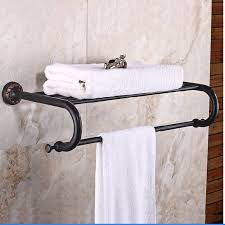 bronze towel bar. Wholesale And Retail Wall Mounted Oil Rubbed Bronze Towel Rack Holder Clothes Shelf W/ Bar Hooks Hangers Brass-in Racks From Home Improvement On