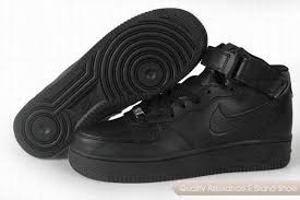 nike shoes air force black. nike air force 1 unisex all black shoes