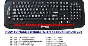 How To Make Tm Symbol How To Make Symbols With Keyboard Shortcut Trick And Techniques
