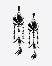 Dream Catchers For Sale Uk Valentino Dream Catcher Earrings Black KW10000J10000RG100J100100 UKDiscount 18