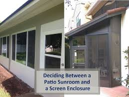 patio sunroom and a screen enclosure