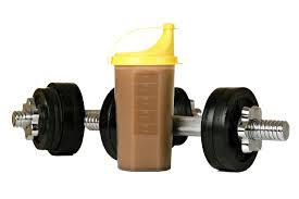 Image result for bumper plates and protein shake