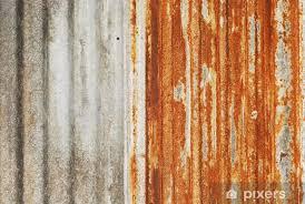 rusty corrugated metal texture vinyl wall mural raw materials