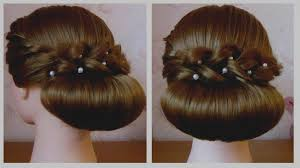 El Gant De Coiffure Mariage Facile Chignon Pour Cheveux Mi