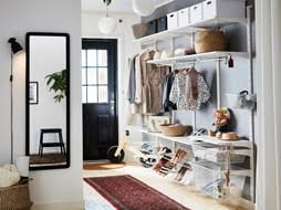 hallway furniture ikea. A Big Hallway With Floor-to-ceiling Storage, Consisting Of White Shelves, Furniture Ikea K