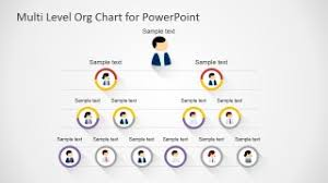 Powerpoint Hierarchy Templates Free Multi Level Org Chart For Powerpoint Slidemodel