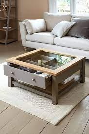 malvern dove grey display coffee table