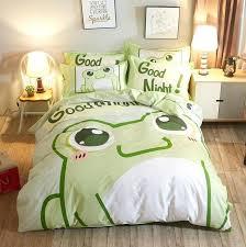 frog bedding set cotton frog green cartoon bedding set home stripe girl boy bedclothes twin princess