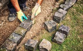how to install a brick paver edge the