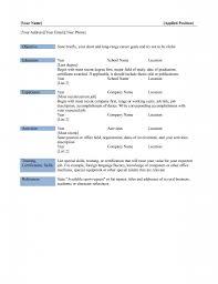 Best Photos Of Basic Resume Template Word Simple Basic Resume