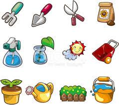 cartoon gardening icon stock vector