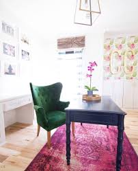 wallpaper for home office. Beautiful Ideas For How To Use Wallpaper In Modern Home Decor West Elm Over Dyed Pink Office L