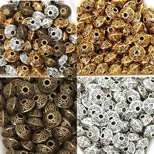 <b>50PCs bag 6mm</b> Tibetan Metal Beads <b>Antique</b> Gold <b>Silver</b> Oval UFO ...