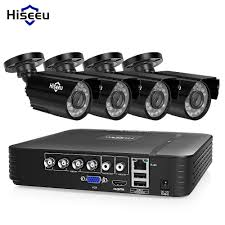 Hiseeu CCTV camera System 4CH 720P/1080P AHD security Camera DVR Kit waterproof Outdoor home Video Surveillance HDD