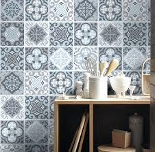 backsplash decals ceramic tile stickers kitchen astonishing on pertaining to decals vintage blue 3 removable wall decals backsplash