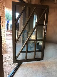 pivot and hinged glass aluminium doors