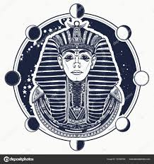 тату египет фараон векторная тату искусства графический фараона