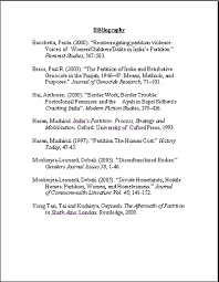 bibliographies bibliography format