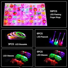 Ucradle Party <b>Light</b> Up Toys, 64 Pieces <b>LED</b> Party Bag Fillers ...
