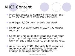 Arts Humanities Citation Index Ppt Download