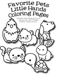 Small Picture FREE Set of Pet Coloring Pages Free Homeschool Deals