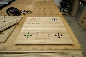 Wooden Aggravation Board Game Easy Gift Project Homemade Board Games Jays Custom Creations 96