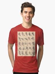 "Vintage Sign Language Alphabet Chart"" Tri-Blend T-Shirt By ..."