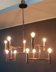 copper chandelier lighting handmade copper pipe light fixture copper chandelier lamp shades copper chandelier lighting
