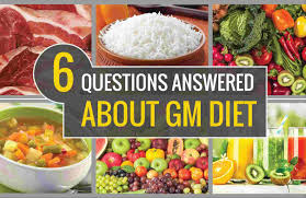 Daiting Chart 7 Day Gm Diet Plan With Diet Chart And Its Side Effects